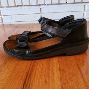 Naot black sandals